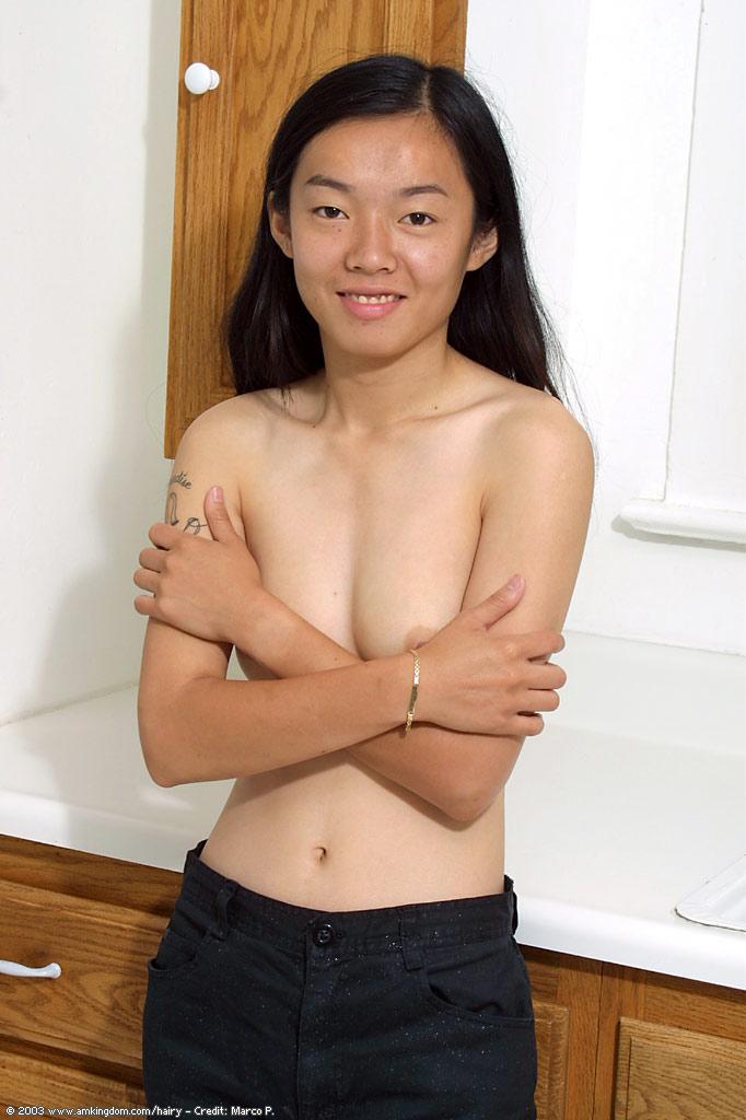 Азиатская брюнетка Tiffany мастурбирует волосатую киску секс фото и порно фото